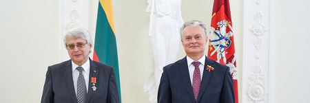 President of Lithuania awards two JU professors